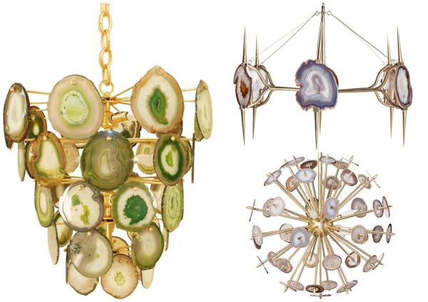 Agate chandeliers