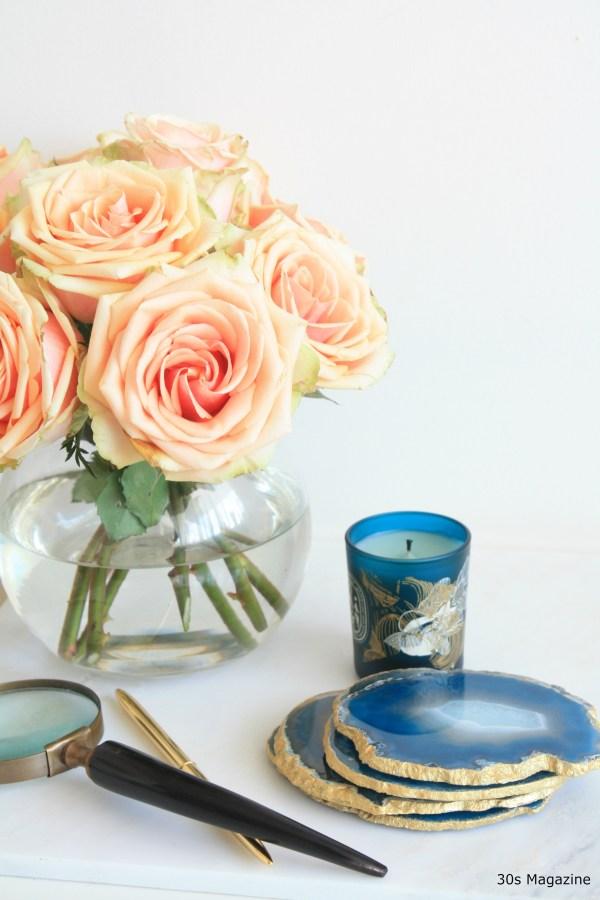 30s Magazine Trend Agate in home decor