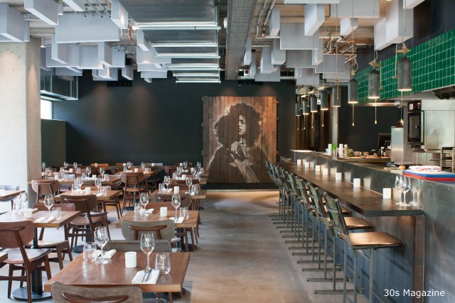 Restaurant C: hot design, warm atmosphere, cool and sizzling food