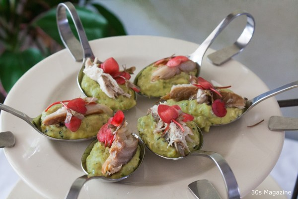amuse peas with mackerel