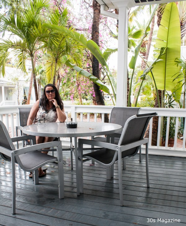 me on the porch at The Paradise Inn Key West