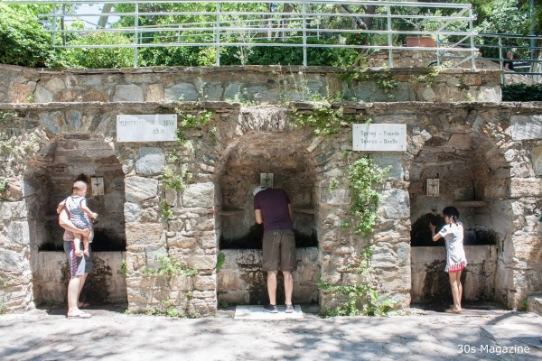 healing water fountains at House of Virgin Mary