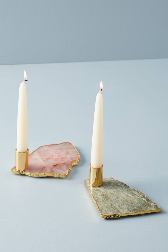 agate candle holder