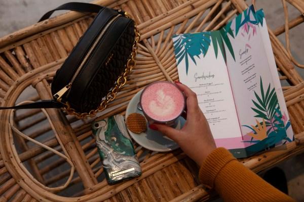 pink hot chocolate at Cafe Martinus Haarlem