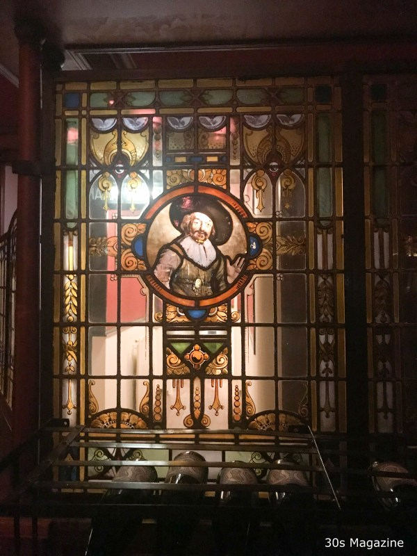 stained window at Gaia Amsterdam
