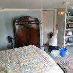 Guest room renovation wallpaper stripping