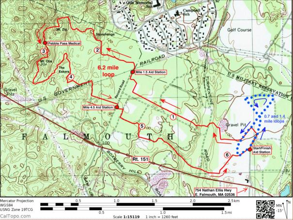 Cape Cod Trail Race Course