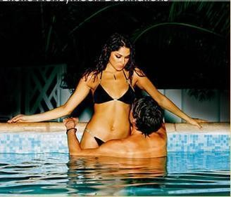 Is a pool owner acting deceptively if he knows in advance that women love pools and hot tubs?