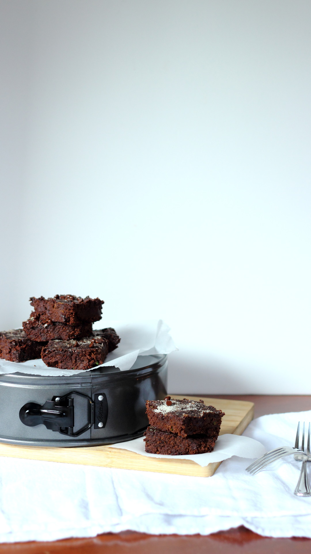 Seriously fudgy zucchini brownies