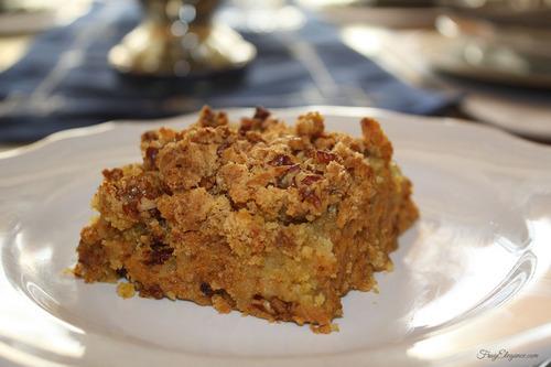 Easy Pumpkin Dump Cake | FrugElegance | www.frugelegance.com