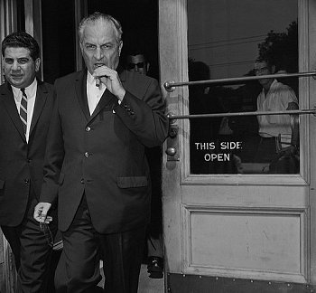 Carlos Marcello, boss of the New Orleans mafia from 1946-1990. He also features in several JFK conspiracy theories.