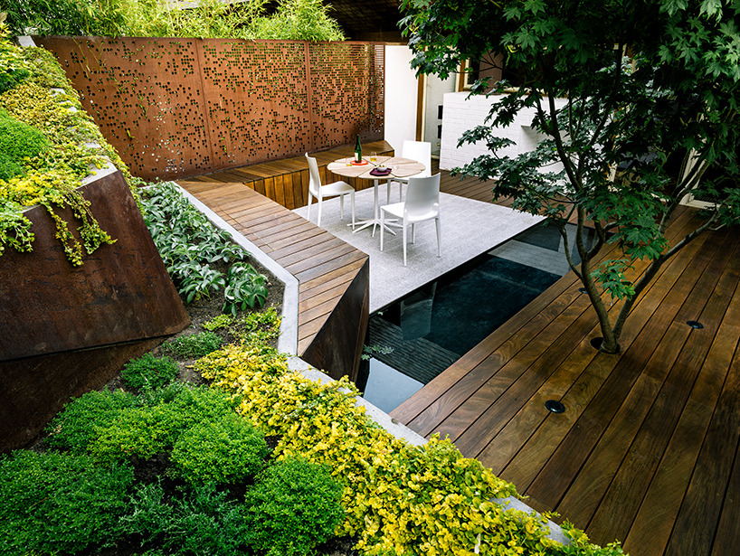 backyard concrete and corten paradise… hilgard garden terrrace by barensfeld architecure [(www.designboom.com)]