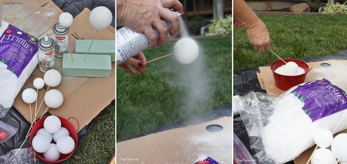 DIY Faux Snowballs | FrugElegance | www.frugelegance.com