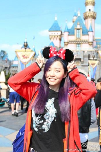 Jane Zhang at Disneyland
