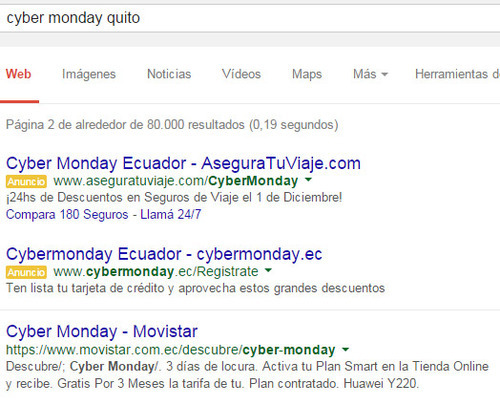 Movistar en los SERPs