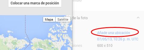 foto no geoetiquetada: tu puede añadir un lugar (Google+)