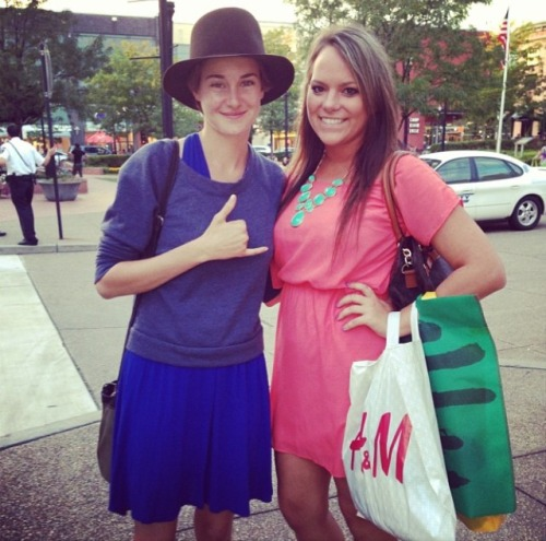 Shailene and a fan today.