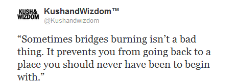 Quote Sometimes Bridges Burning Isnt A Bad Thing Diyyinah