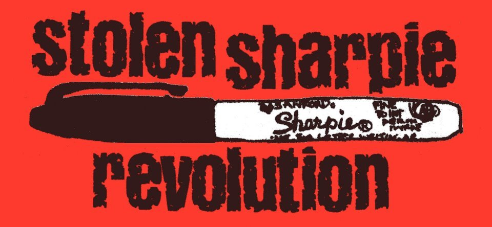 <br /><br /> With 21,000 copies of the book in print through 4 editions, Stolen Sharpie Revolution has been the go-to resource for zines and zine culture since 2002. However, Stolen Sharpie Revolution is currently out of print. I'm about to launch a Kickstarter campaign to fund a 5th edition and I need your help!<br /><br /> I'd like to make a Kickstarter promo video with photos of Stolen Sharpie Revolution, including your photos! Show me photos of SSR on your bookshelf, in a shop window, on a table at a zine fest. Show me SSR with with you cats, dogs, or hedgehogs! I'd love to see a copy in the middle of you floor scattered with zine making scraps, tucked out of your backpack, or being read in public. All submissions that are included in the video will receive a free copy of the book when it is printed.<br /><br /> All submissions must be received by 2 February 2014 Submissions should be sent to: StolenSharpieRevolution@live.com<br /><br /> STOLENSHARPIEREVOLUTION.ORG<br /><br /> Did you know that the zine resource listings that have always appeared in the back of Stolen Sharpie Revolution are now collected and updated on the StolenSharpieRevolution.org website? The resources were always the most difficult part of upkeep and a website makes this so much easier. Check it out for zine distros, stores that sell zines, a calendar of zine events and more!  As always SSR is only as good as the information I have. If you see that I'm missing something, a ne zine event, a shop in your town that sells zines, a zine distro that hasn't been included, please send a message through the contact form on the site and I'll get it added.<br /><br /> Please reblog and spread the word!<br /><br /> In zines we trust,<br /><br /> Alex Wrekk<br /><br /> *Multiple copies received from a single person will result on only one free book. Owner of submitted photo reserves all rights to submitted images but may be asked for it to be included in promotional materials.