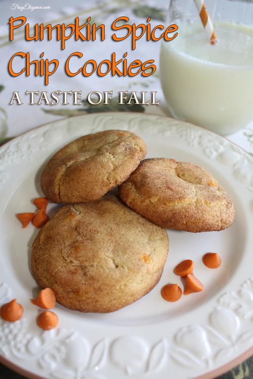 Pumpkin Spice Chip Cookies | FrugElegance | www.frugelegance.com