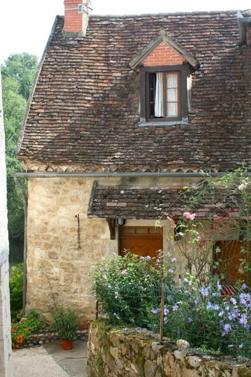 French country cottage near the sea.