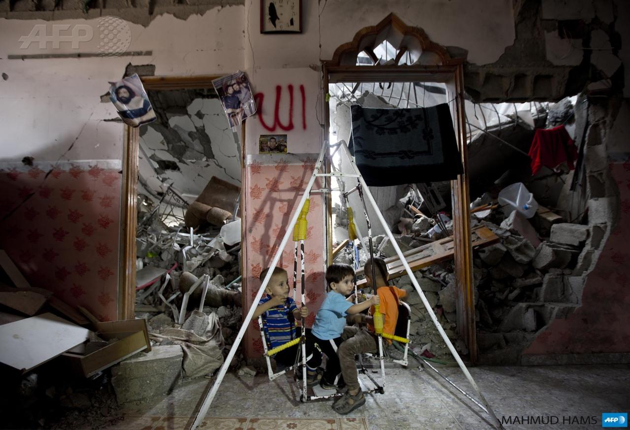 La infancia en Gaza busca formas de jugar al margen de las destrucción
