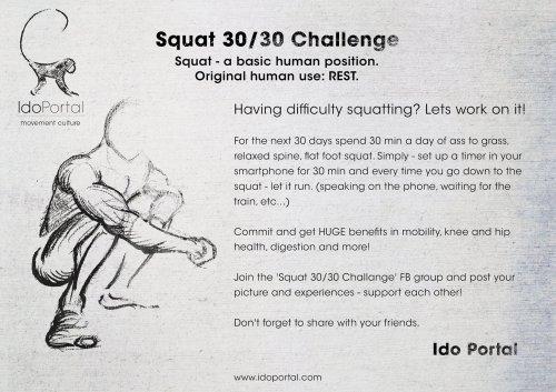 squat 30/30 challenge