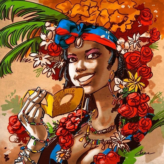 🎨Stunning use of color, #Haitian artists like Chevelin Pierre & Bousiko are pushing the envelope. very impressive.- written by @gq_accountant  #lunionsuite #haitianamerican #haitianartist #haiti #haitians #teamhaiti 🌺❤️🌼💙🎨💐🌷