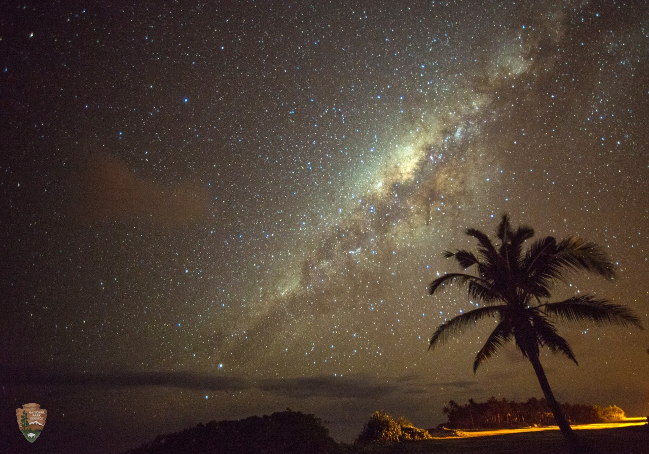 Stunning southern night sky in Ofu Island in the National Park of American Samoa! They get a brighter, richer view of the Milky Way in the Southern Hemisphere due to the location on the globe. This is the only national park found in the Southern Hemisphere.  Photo: National Park Service