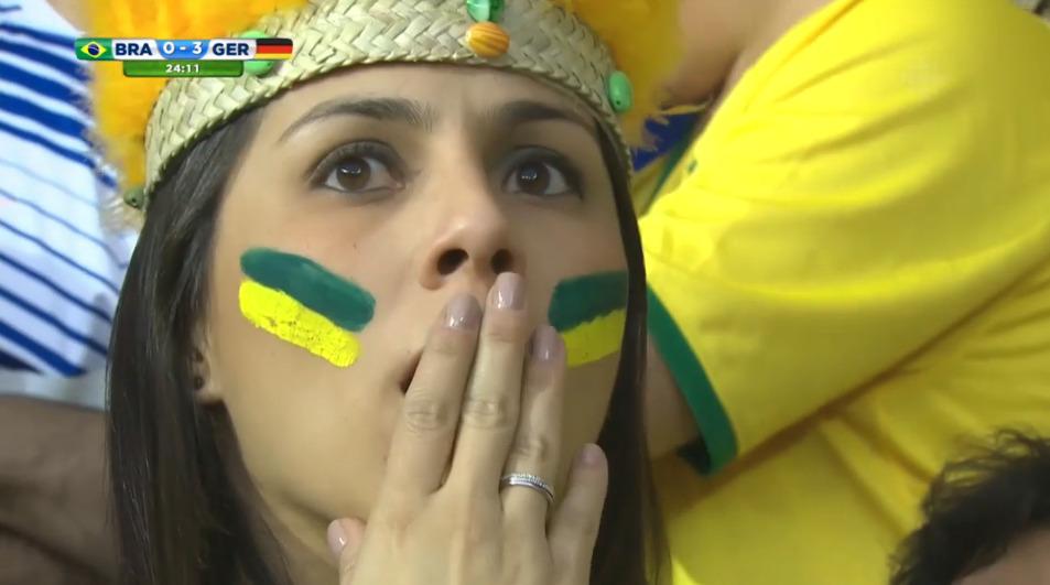 Bilder von traurigen Brasilianern 'sad Brazilians'