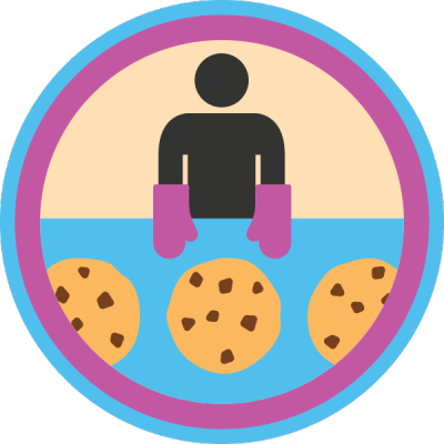 Lifescouts: Baking Cookies Badge If you have this badge, reblog it and share your story! Look through the notes to read other people's stories. Click here to buy this badge physically (ships worldwide). Lifescouts is a badge-collecting community of people who share their real-world experiences.