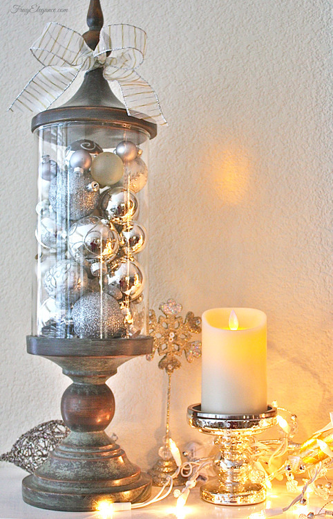 Christmas to New Years Easy Decor Transition | FrugElegance | www.frugelegance.com