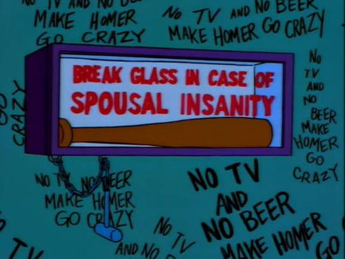 No tv and no beer make Homer something something, Simpsons, sanity