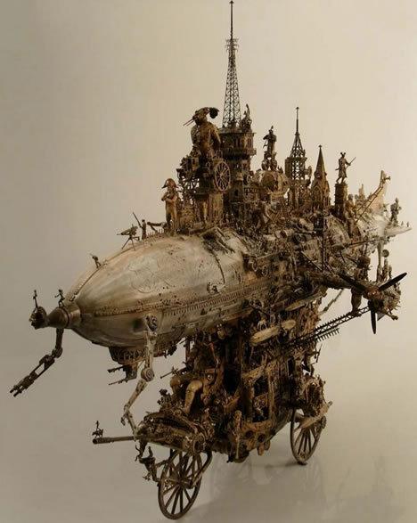 macchina steampunk