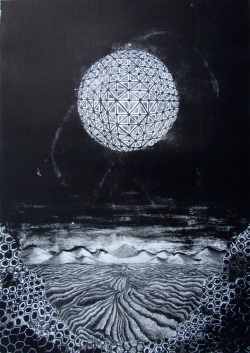 Cosmic patterns and things, 15x22in. First Lithograph