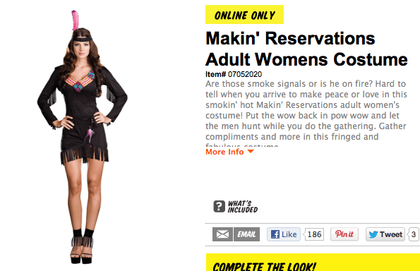 lewis-andclark:  I AM SO DONE I was just trying to look for a halloween costume and Why is every Halloween costume either racist or overly revealing and sometimes both? IDGI  The name. The description. I can't even.