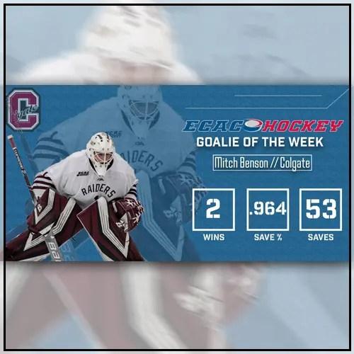 Mitch Benson - ECAC Goalie of the Week