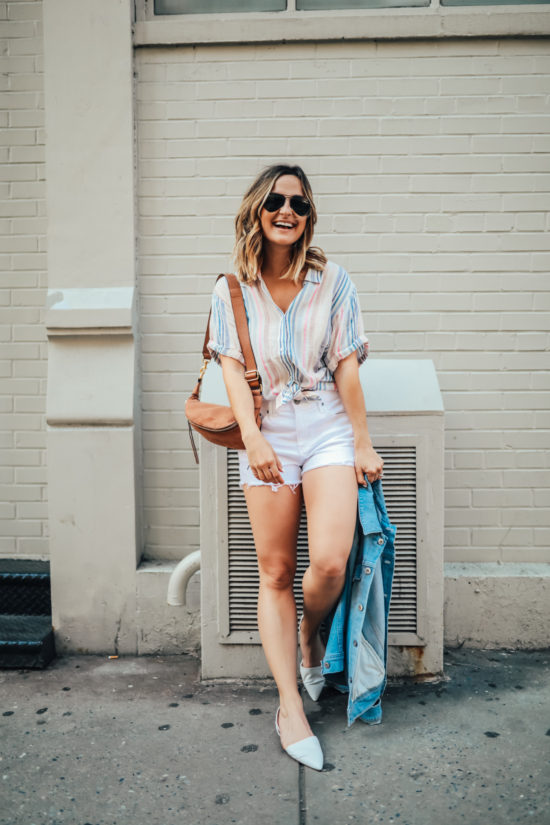 Striped Linen Shirt | Charmed by Camille