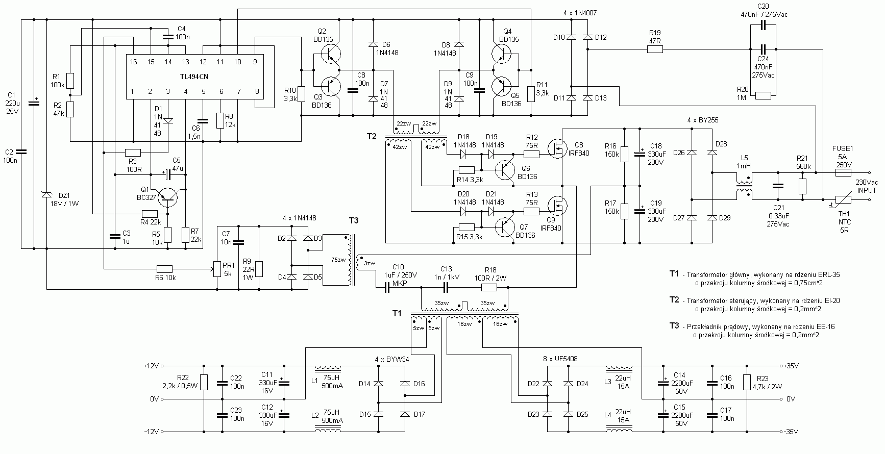 Half Bridge Rectifier Schematic