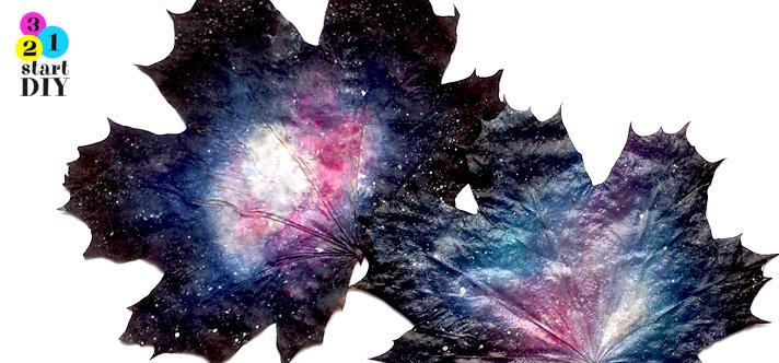 galaktyka malowana na liściach