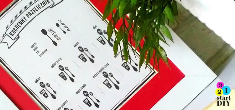 Kuchenny przelicznik – grafika do wydruku