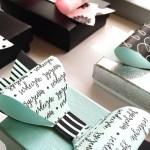 Papierowe kokardy na prezenty