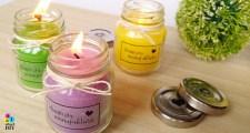 świeczki w słoiku DIY