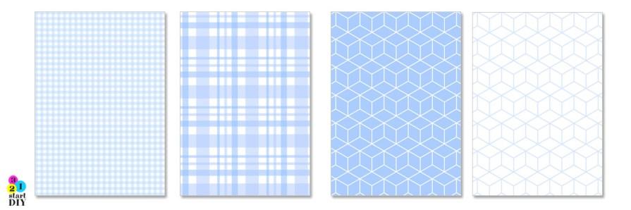papier ozdobny do pobraniabłękitny