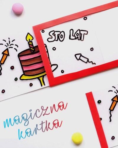 magiczna kartka urodzinowa