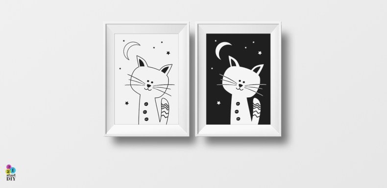 plakaty do pokoju dziecka kotki