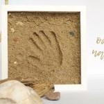 Odcisk dłoni – pamiątka znad morza w ramce 3d