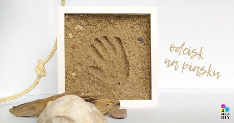 odcisk dłoni - pamiątka znad morza w ramce 3d