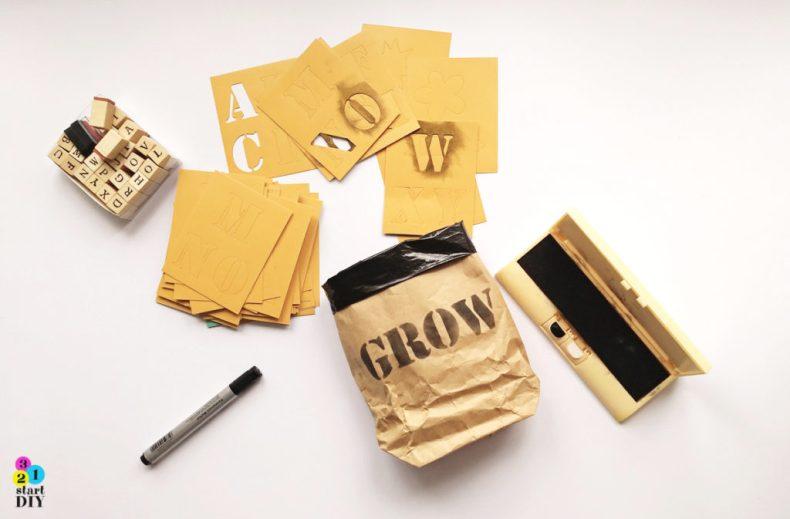 jak zrobić torbę z papieru, papierowe worki na zabawki