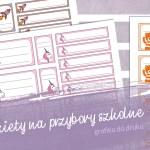 Etykiety do druku – naklejki na przybory dla najmłodszych